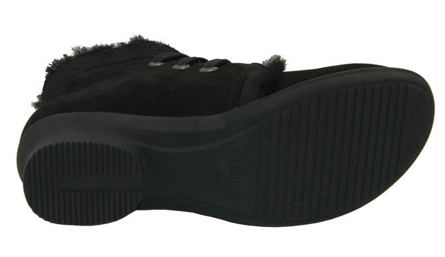 单鞋comely康莉冬季磨砂牛皮休闲时尚方跟女短靴黑色