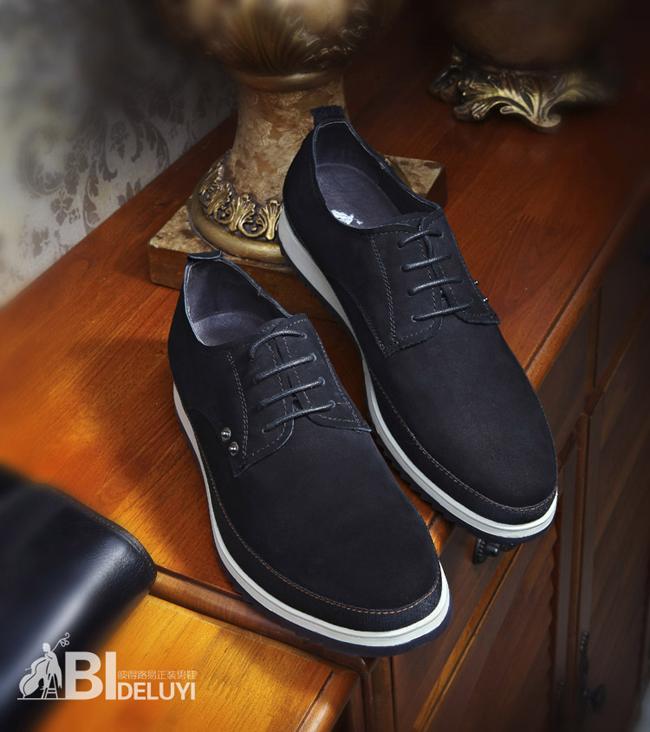 男鞋单鞋反绒牛皮皮鞋
