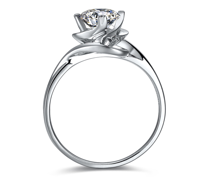 Doido爱度钻石 1克拉SI K-L色钻戒\/结婚女戒 国