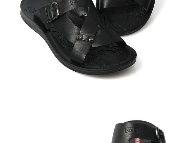拖鞋日泰 2012新款夏季男士凉鞋凉皮鞋真皮正品沙滩