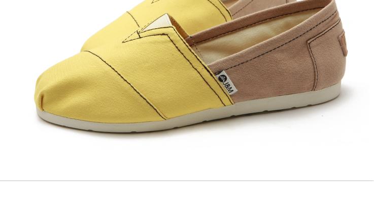 色拼接帆布鞋一脚蹬低帮女鞋子w