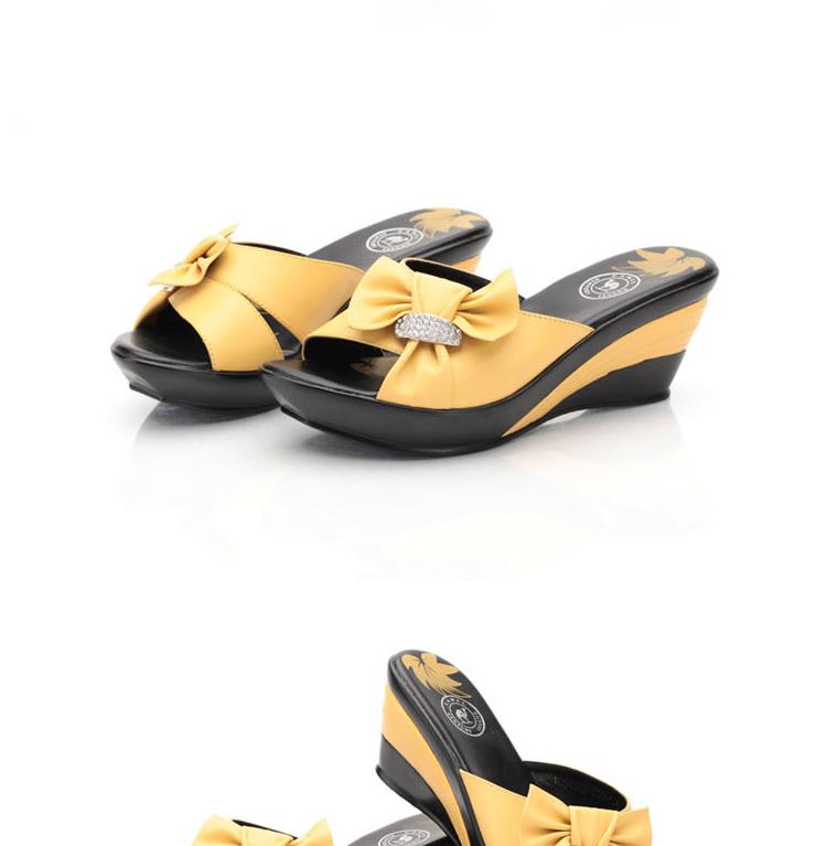 京东商城 camel/骆驼 蝴蝶结时尚魅力坡跟女凉鞋