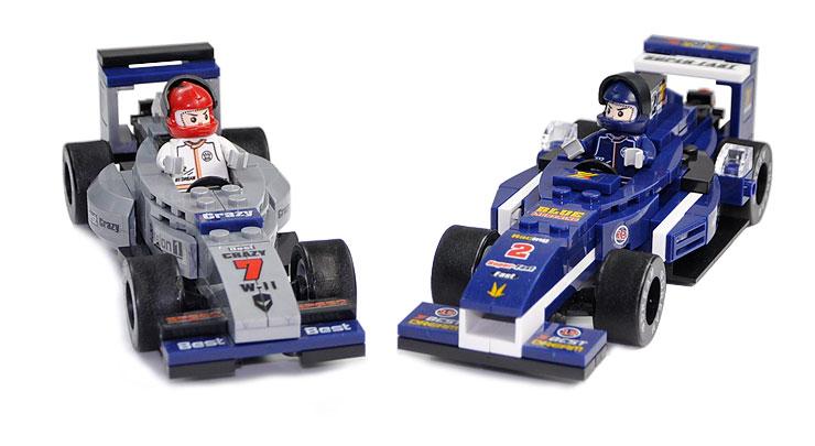 小鲁班积木0355 方程式赛车 赛车组 儿童拼装益智玩具 乐高式