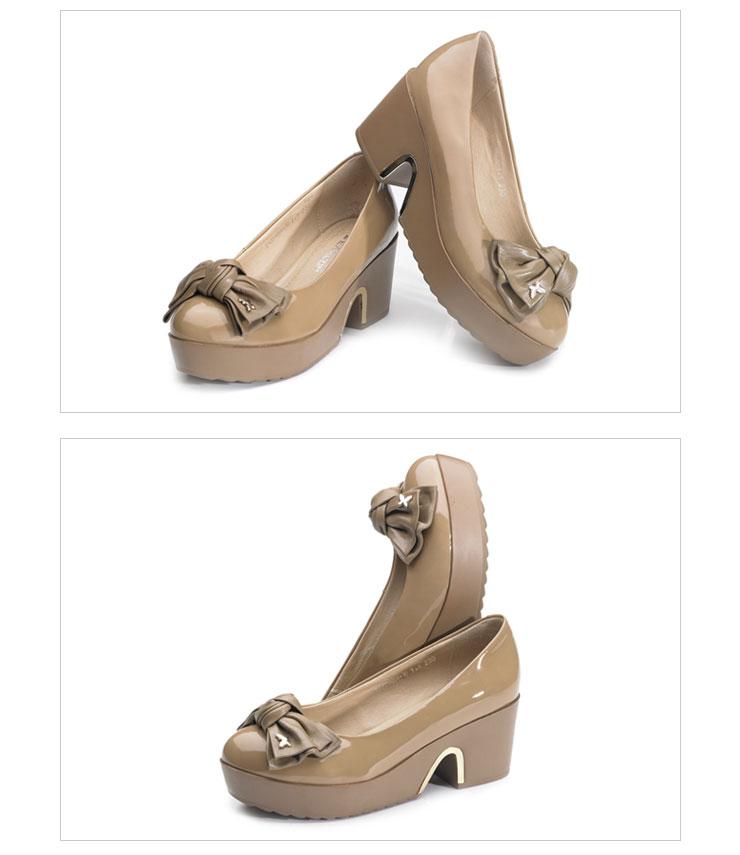 厚底女单鞋 2012新款真皮时尚女鞋