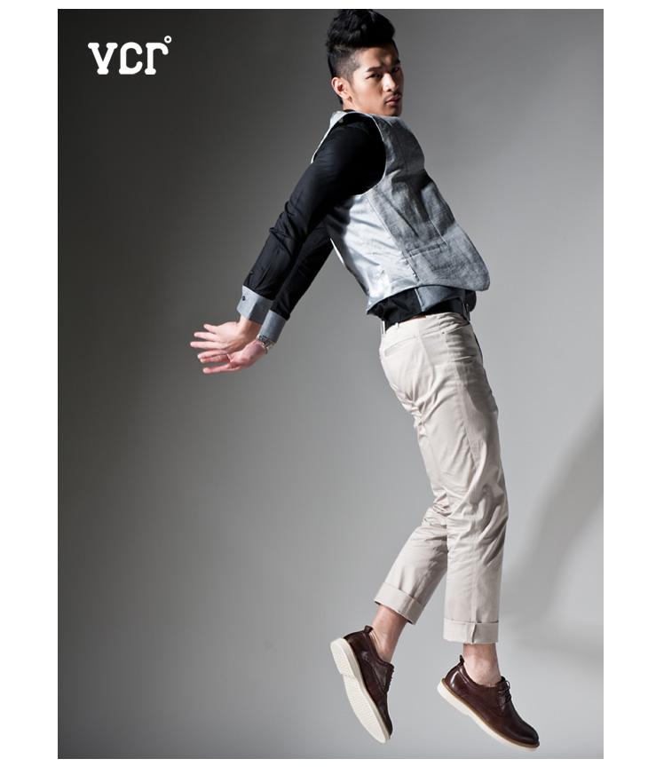 英伦真皮时尚潮流厚底男士休闲皮鞋