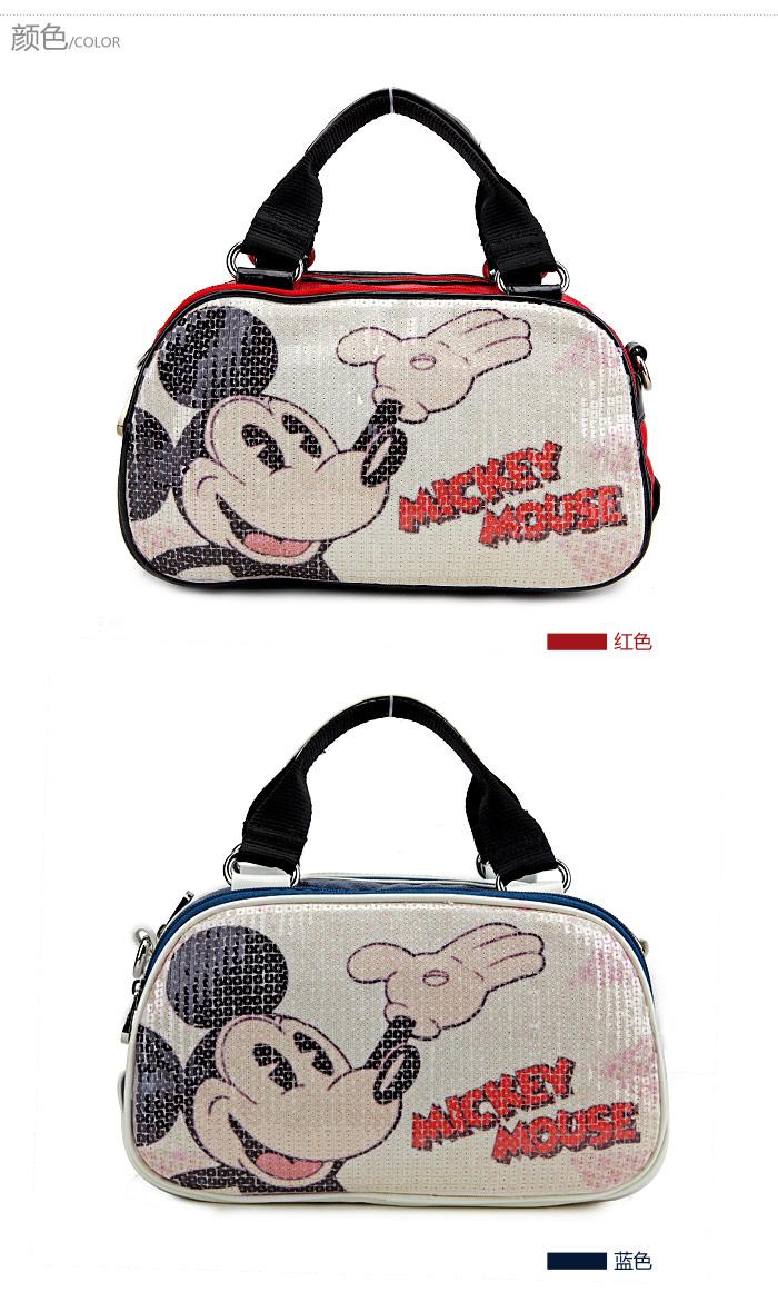 手提包迪士尼disney米奇包包mickeypu两用手袋女包ef