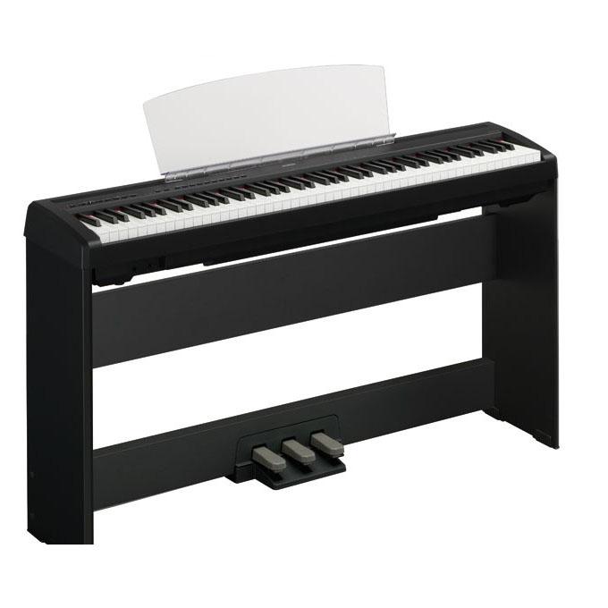 yamaha 雅马哈电钢琴p95b 黑色 全套配原装木架 三踏板图片