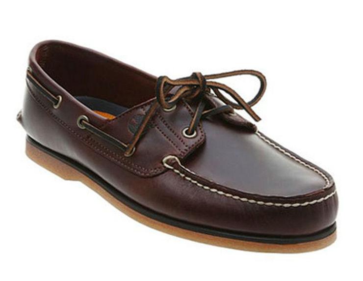男士真皮帆船皮鞋