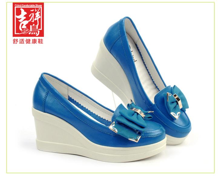 皮鞋女防水台单鞋厚