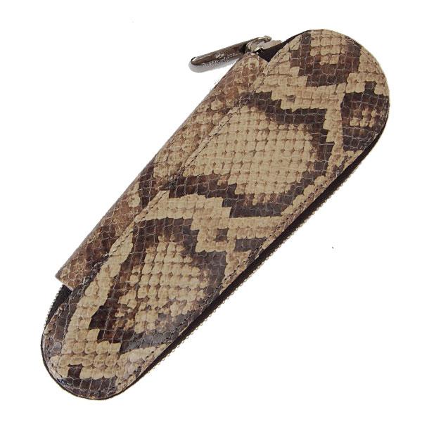 德国 辉柏嘉 蛇皮纹 拉链笔袋 笔套 两支装 18884