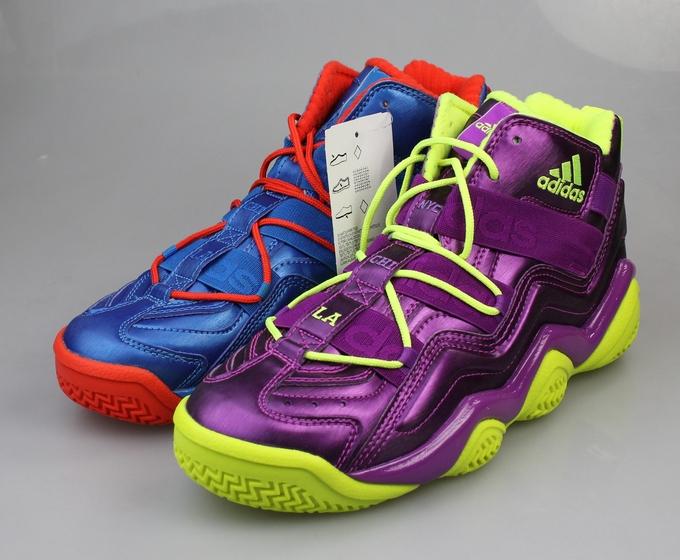adidas紫色篮球鞋