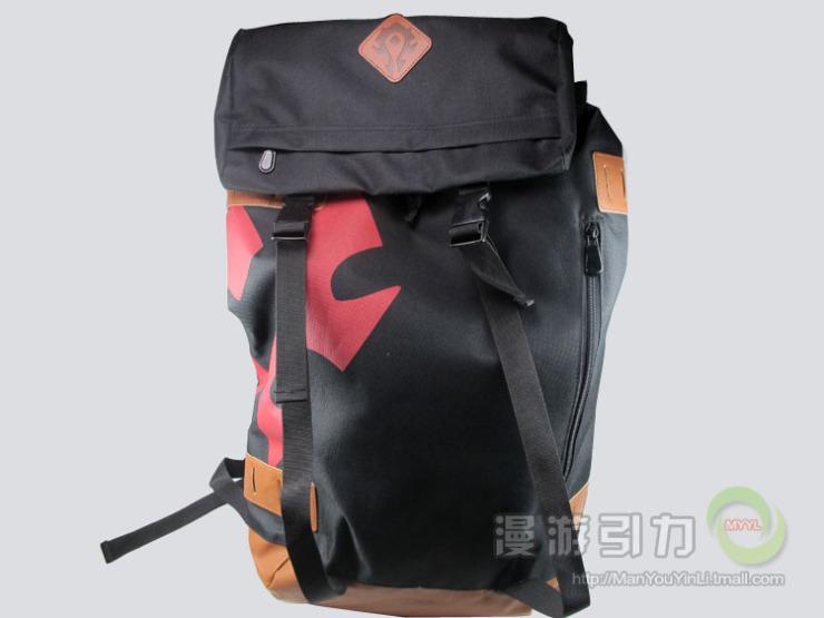 魔兽世界周边背包 部落联盟标志双肩包背包