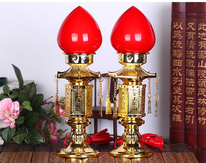 吉善缘 天官赐福财神供灯电烛灯电蜡烛电烛台佛灯佛堂图片