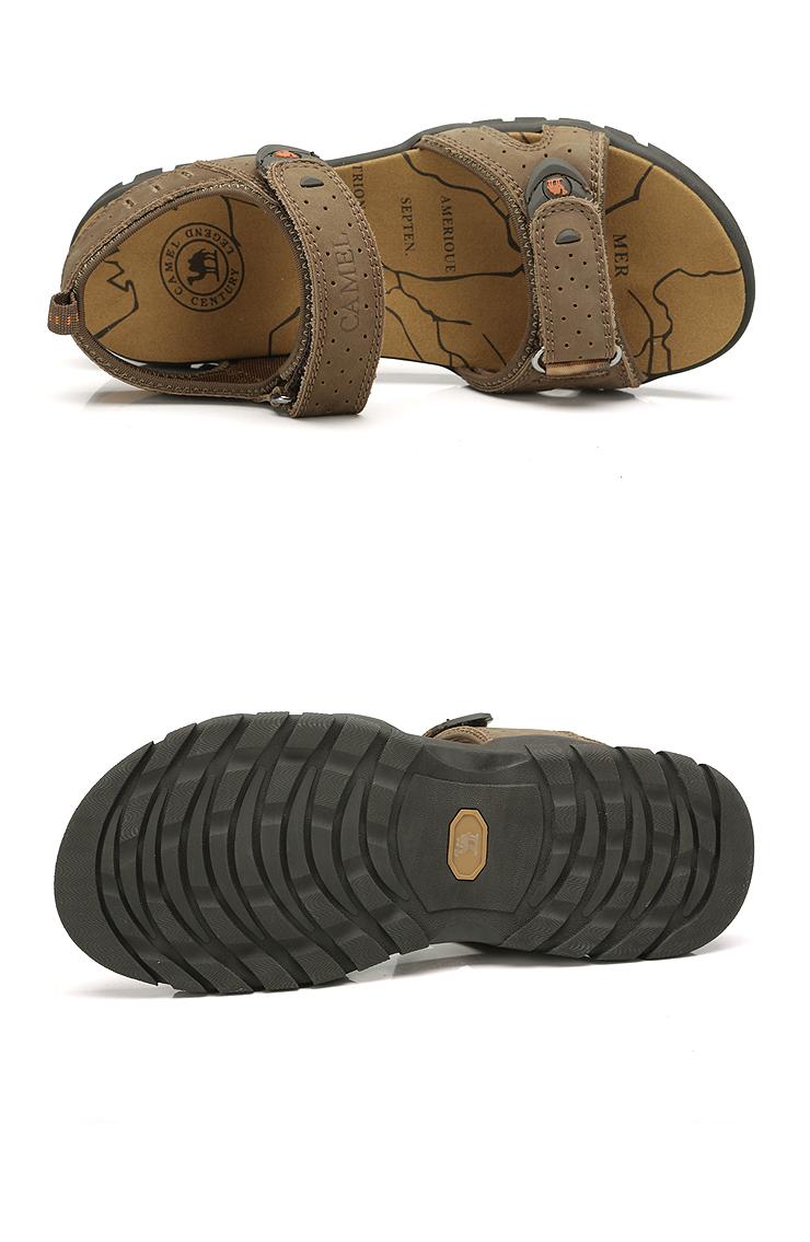 骆驼(camel)2013新款头层牛皮沙滩鞋