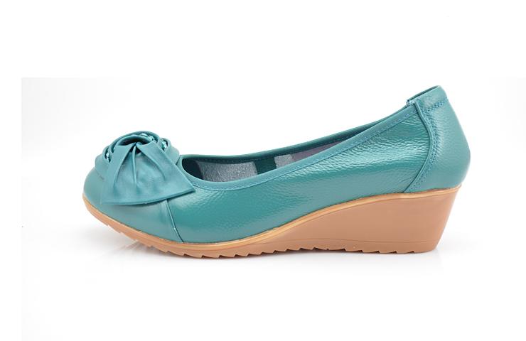 上海皮鞋厂2013专柜正品真皮女鞋新品牛筋底