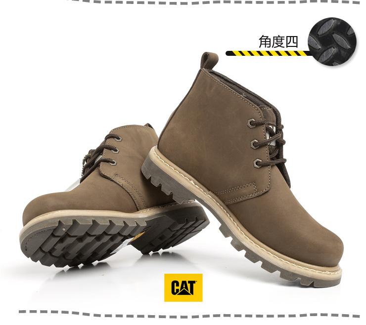 cat/卡特秋冬卡其色头层牛皮男靴p705339c4c