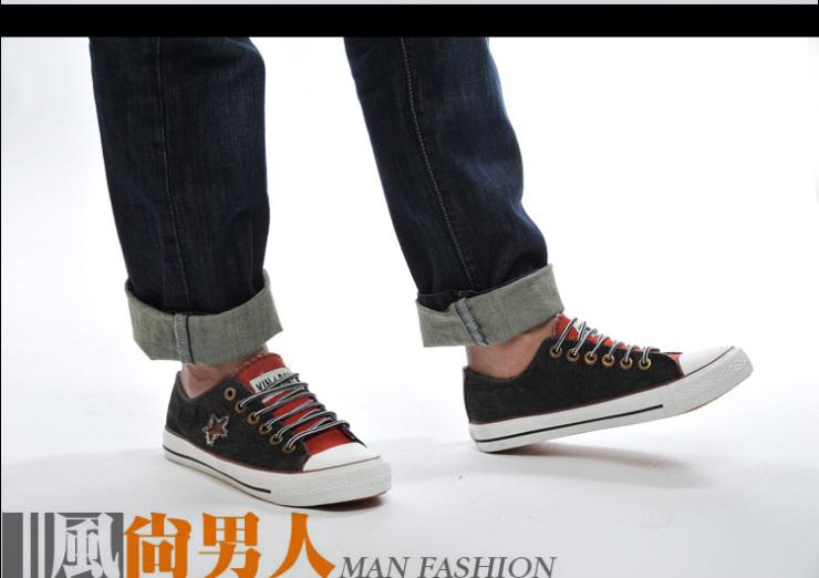 星邦帆布鞋低帮鞋男生休闲鞋韩版潮流布鞋子男鞋英伦