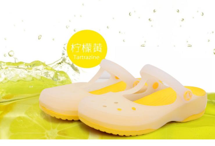 酷趣儿童洞洞鞋女童花园鞋变色女童凉拖鞋包头沙滩鞋