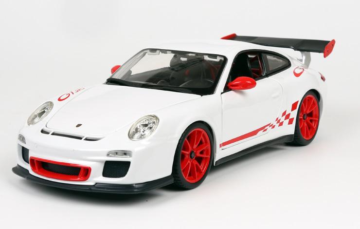 比美高1:18保时捷911gt3rs仿真合金汽车模型玩具车
