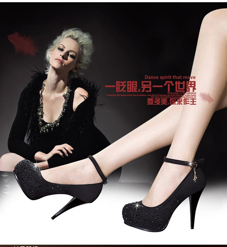 女鞋防水台高跟鞋