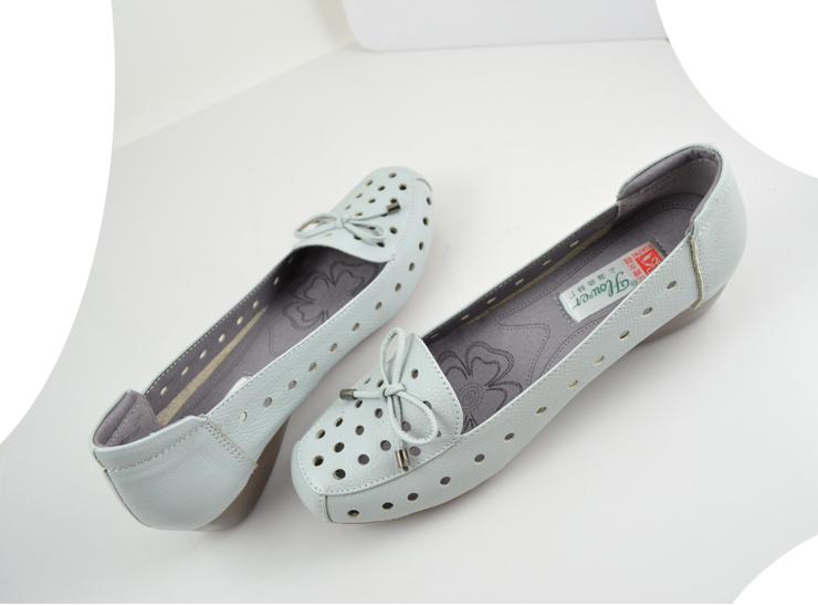 花牌正品女鞋 新款头层牛皮牛筋底妈妈凉鞋凉拖鞋
