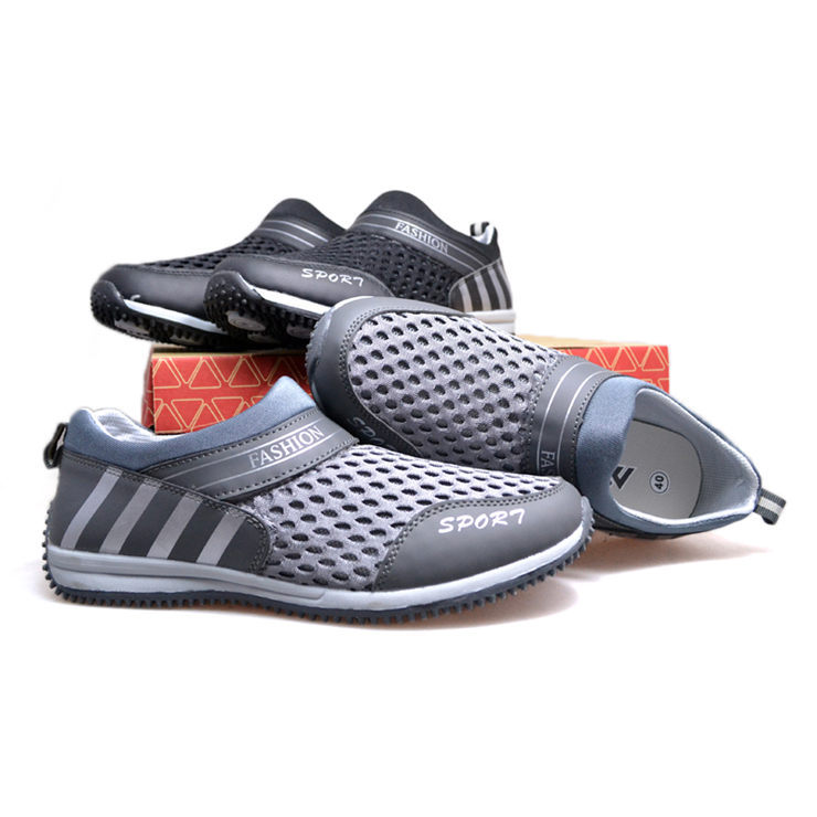女鞋情侣款一脚蹬懒人网面休闲鞋细网运动鞋3401178