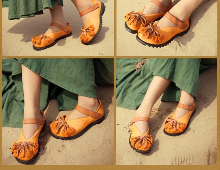 手工牛皮女单鞋