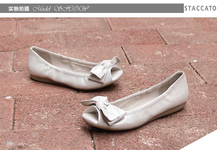 staccato/思加图2013年春季银白色贴膜羊皮女皮凉鞋