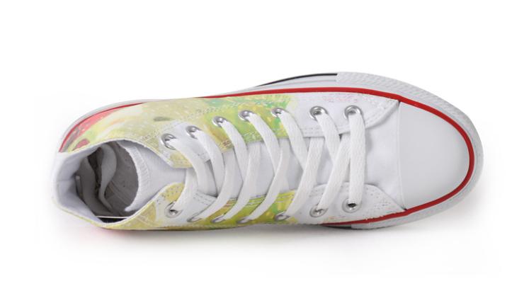 高帮运动帆布鞋 潮流透气女鞋平底单鞋dl213201