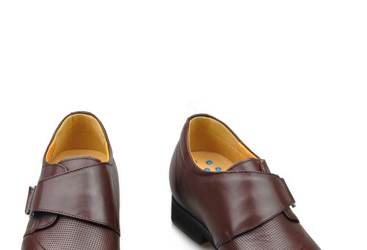 jingang男士内增高皮鞋商务正装尖头增高鞋真皮英伦