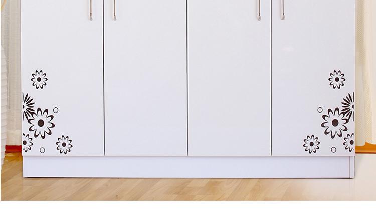 客厅玄关鞋柜效果图 简约三列鞋柜简易大容量玄关鞋柜