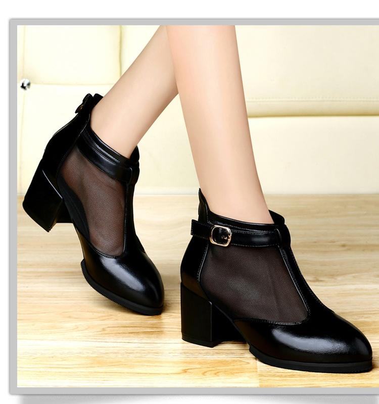 古奇天伦 2014春季新款女鞋单鞋粗跟高跟女鞋欧美