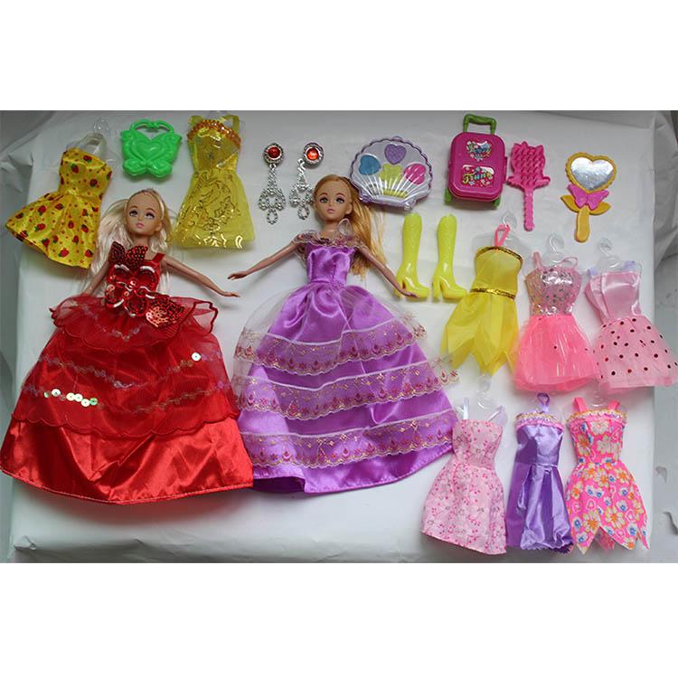 芭比娃娃玩具套装换装礼盒女孩过