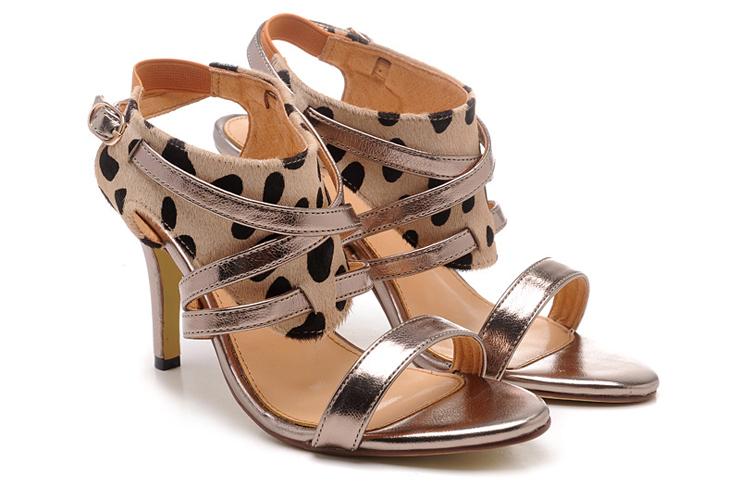 凉鞋 女鞋 豹纹高跟凉鞋2013新款女凉鞋