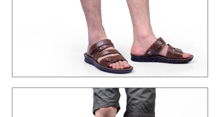 洛巴牛铆钉真皮凉鞋男式两用沙滩鞋夏季休闲韩版潮