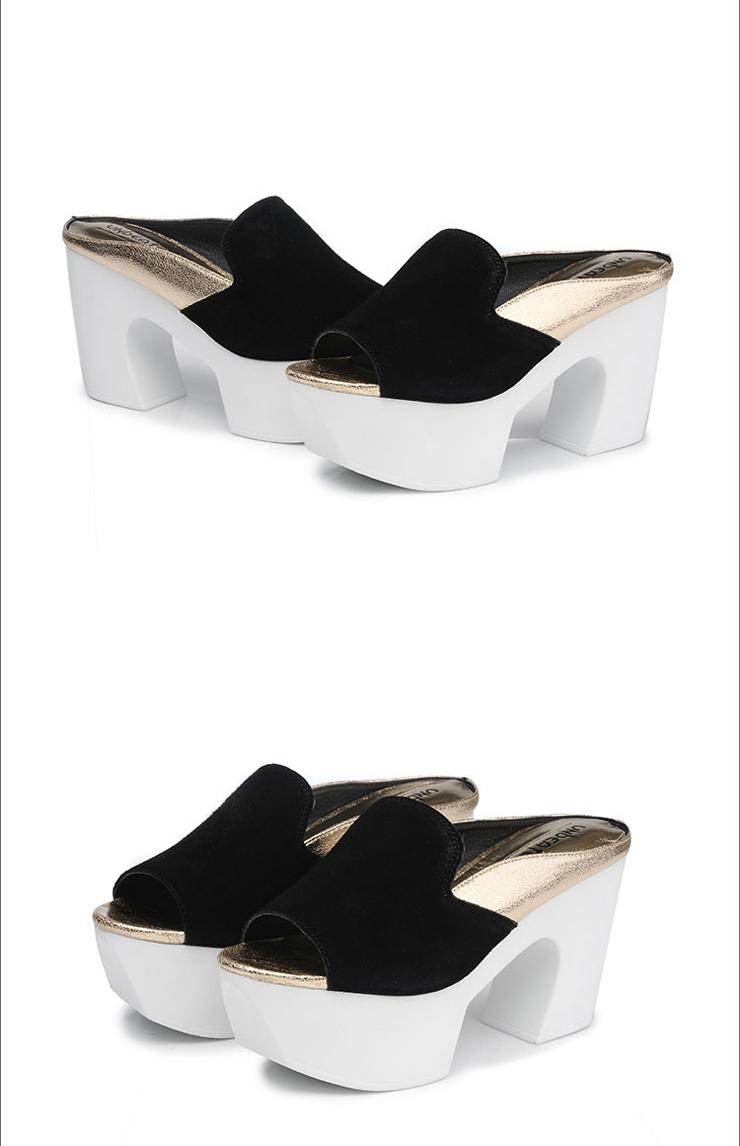 新款夏季女鞋休闲凉鞋女发士高跟鞋