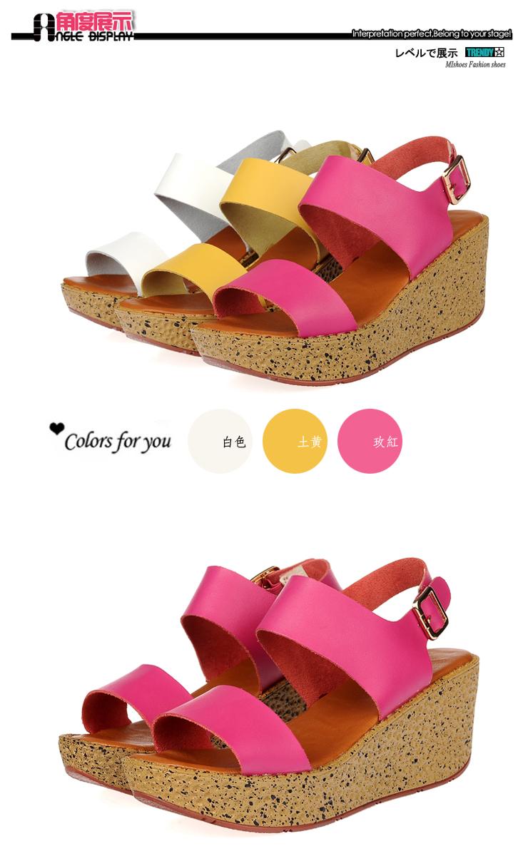 新款厚底松糕凉鞋舒适休闲女鞋沙滩凉鞋5582