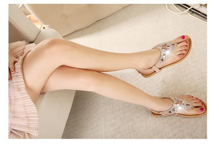 奥诗邦薇2014新款女鞋平跟凉鞋女低跟凉