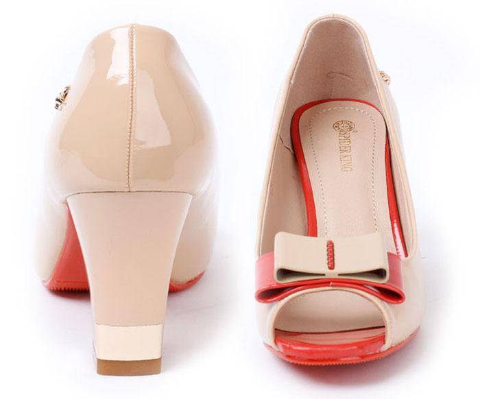 蜘蛛王女鞋简约优雅高跟女凉鞋粗跟鱼嘴鞋夏季新款低