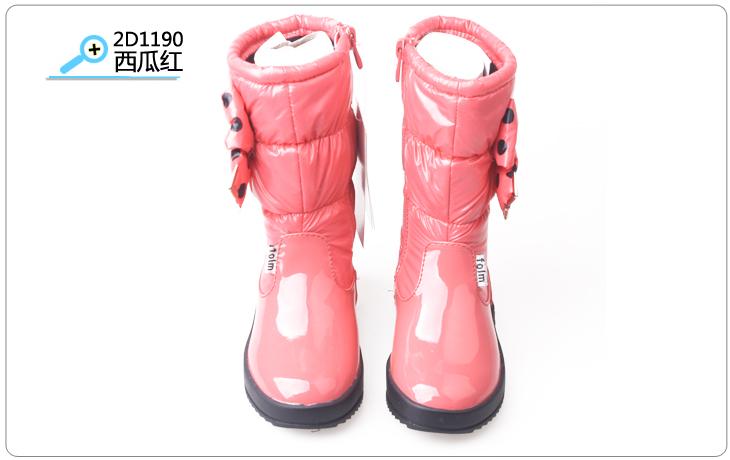 富罗迷女童鞋2012冬季新款儿童靴子韩版中筒靴防水靴