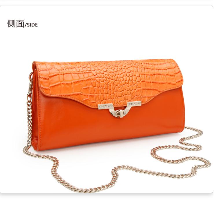 红谷专柜正品2013新款韩版牛皮单肩斜跨女包h5120055