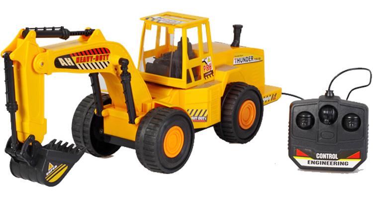 玩具挖土机遥控车