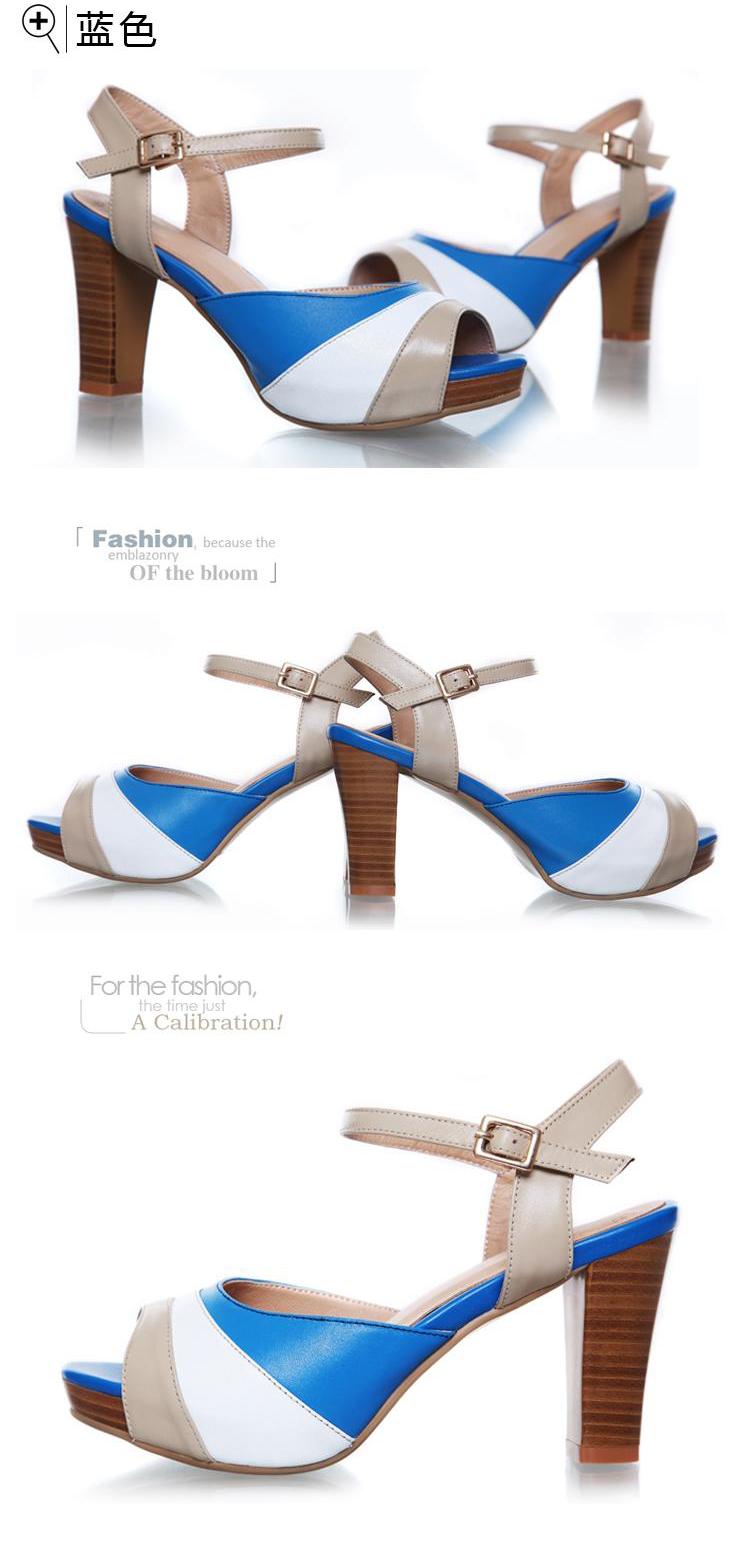 若南ruonan2013时尚新款凉鞋女款高跟头层牛皮舒适