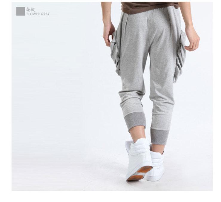 哈伦裤男士九分裤休闲裤