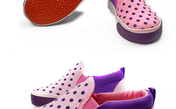 (warrior)童鞋正品男女童帆布鞋可爱时尚圆点儿童