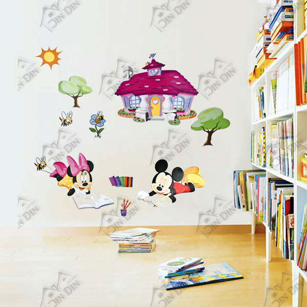 叮叮 墙贴纸 儿童房教室布置贴画 卧室卡通墙壁贴纸 米奇