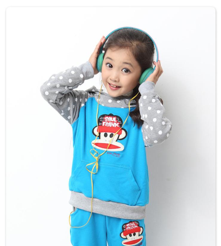 (wonderful)2014新款春款中大女童装韩版大嘴猴