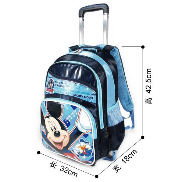 迪士尼(disney)米奇儿童小学生拉杆书包四层拖书包