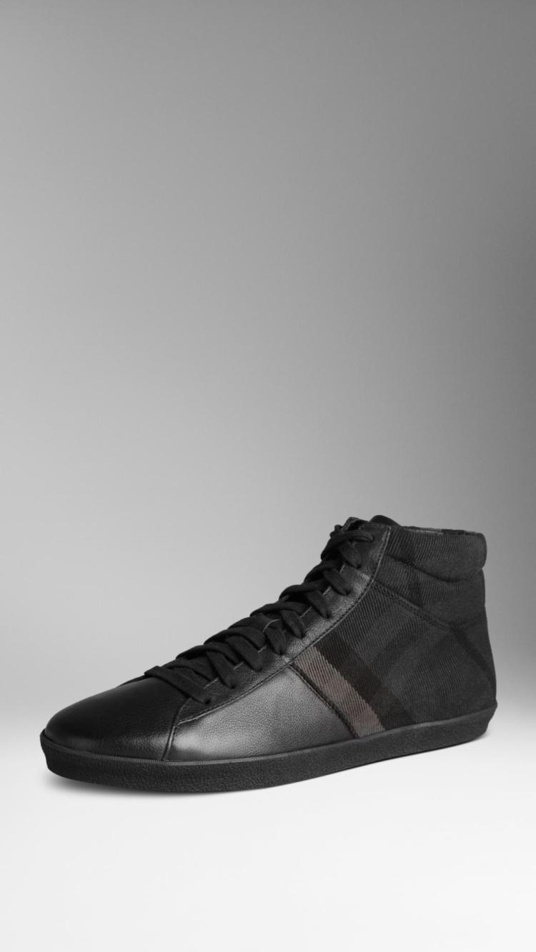 2014新款巴宝莉burberry男鞋格子休闲鞋