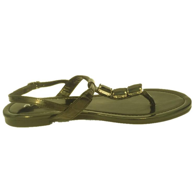 简约英伦风女鞋女凉鞋黑色水钻潮鞋